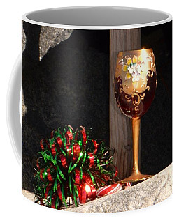 Coffee Mug featuring the photograph A Fine Beach Christmas by Laurie Lundquist