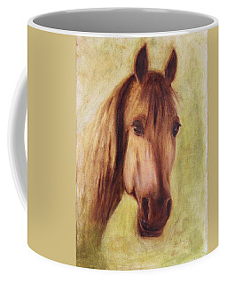 Coffee Mug featuring the painting A Fine Horse by Xueling Zou