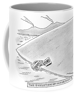 A Fish Reaches Out From The Water Holding Coffee Mug