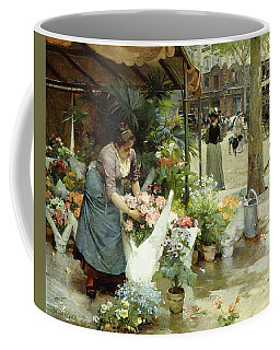 A Flower Market In Paris Coffee Mug