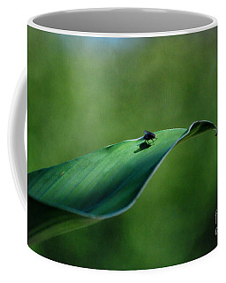 Coffee Mug featuring the photograph A Fly And His Shadow by Thomas Woolworth
