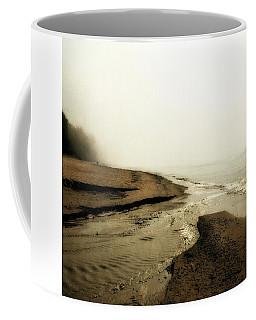 A Foggy Day At Pier Cove Beach Coffee Mug