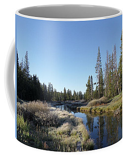 A Frosty Morning Along Obsidian Creek Coffee Mug