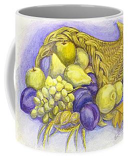 Coffee Mug featuring the painting A Fruitful Horn Of Plenty by Carol Wisniewski