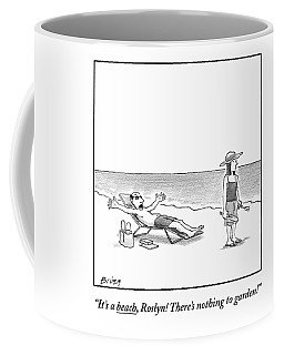 A Frustrated Man Speaks To His Wife On The Coffee Mug