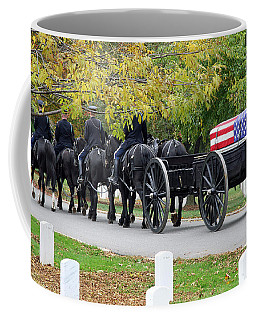 Coffee Mug featuring the photograph A Funeral In Arlington by Cora Wandel