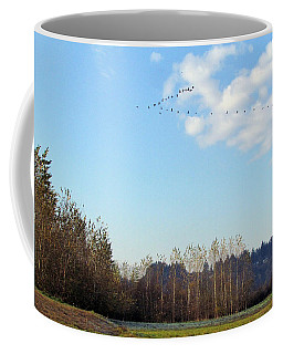 Coffee Mug featuring the photograph A Gaggle Of Cacklers by I'ina Van Lawick