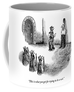 A General Scolds The Target Of A Firing Squad Coffee Mug