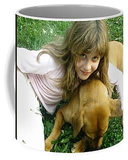 A Girl And Her Dog Coffee Mug by Kelly Awad