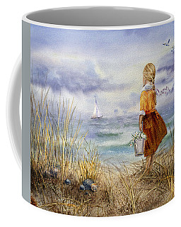 A Girl And The Ocean Coffee Mug