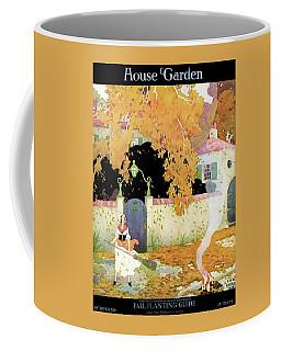A Girl Sweeping Leaves Coffee Mug