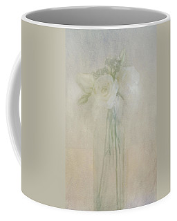 Coffee Mug featuring the photograph A Glimpse Of Roses by Annie Snel