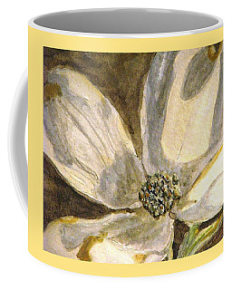 Coffee Mug featuring the painting A Golden Moment Of Spring by Angela Davies