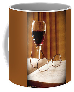 A Good Book And A Glass Of Wine Coffee Mug