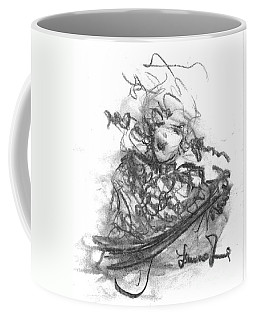 Coffee Mug featuring the drawing A Great Musician by Laurie Lundquist