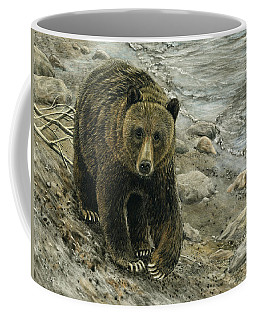 A Grey And Grizzly Day Coffee Mug by Sandra LaFaut