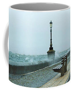 A Grey Wet Day By The Sea Coffee Mug