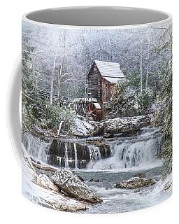 A Gristmill Christmas Coffee Mug by Mary Almond