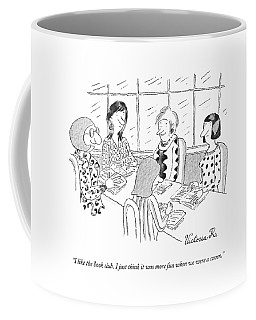 A Group Of Women Sitting Together Coffee Mug
