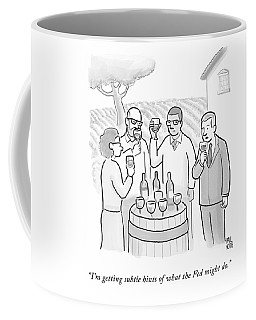 A Group Sample Wine At A Wine Tasting Vineyard Coffee Mug