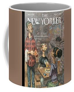 A Hipster Samples Craft Beer Coffee Mug
