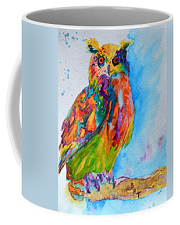 A Hootiful Moment In Time Coffee Mug by Beverley Harper Tinsley