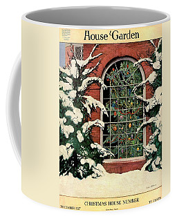 A House And Garden Cover Of A Christmas Tree Coffee Mug