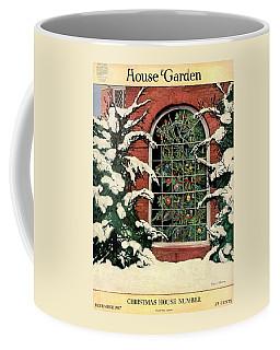 A House And Garden Cover Of A Christmas Tree Coffee Mug
