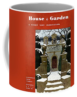 A House And Garden Cover Of A Mansion Coffee Mug