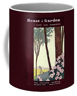A House And Garden Cover Of A Rural Scene Coffee Mug