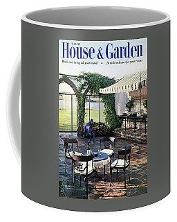 A House And Garden Cover Of A Terrace In East Coffee Mug