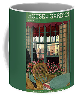 A House And Garden Cover Of A Wicker Chair Coffee Mug