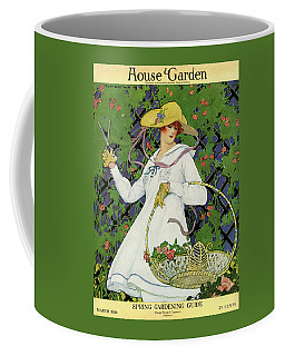 A House And Garden Cover Of A Woman Gardening Coffee Mug