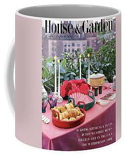 A House And Garden Cover Of Al Fresco Dining Coffee Mug