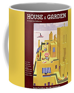 A House And Garden Cover Of An Apartment Building Coffee Mug