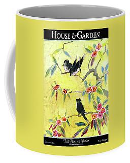 A House And Garden Cover Of Chickadees Coffee Mug