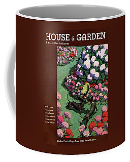 A House And Garden Cover Of Dachshunds With A Hat Coffee Mug