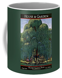 A House And Garden Cover Of People Dining Coffee Mug