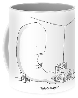 A Huge Whale Reads His Child Also A Whale Moby Coffee Mug