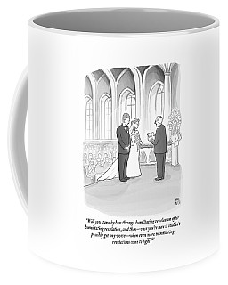 A Husband And Wife Are Getting Married Coffee Mug