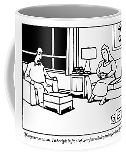 A Husband And Wife Sit In Their Living Room Coffee Mug