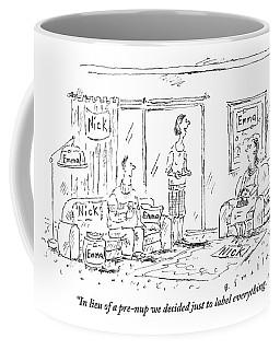 A Husband And Wife Talk To A Friend Coffee Mug