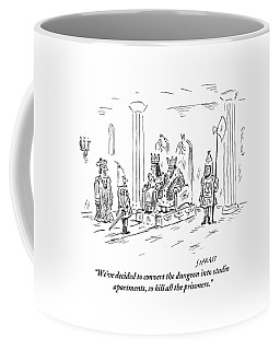 A King And Queen In The Royal Court Give Orders Coffee Mug