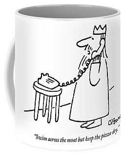 A King Gives Instructions On The Telephone Coffee Mug