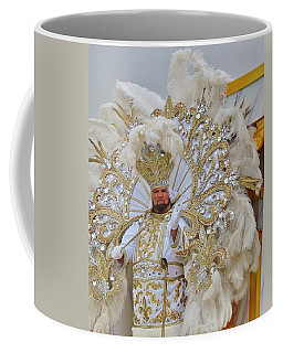 Coffee Mug featuring the photograph A King Of Carnival During Mardi Gras 2013 by Margaret Bobb