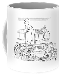 A Laboratory Scientist Looks On As The Walls Coffee Mug