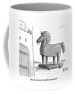 A Large Wooden Horse Coffee Mug