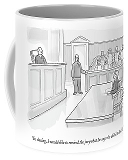 A Lawyer In Court Addresses The Jury Coffee Mug