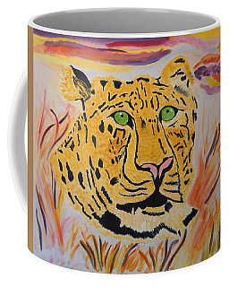 A Leopard's Gaze Coffee Mug by Meryl Goudey