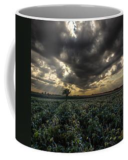 A Light Shines Through Coffee Mug